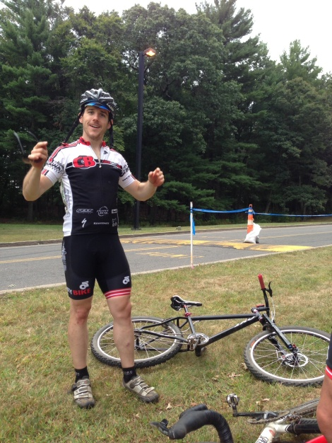 Brendan kicked into stealth mode for his CAT 4/5... silent and deadly ( no, not THAT kind)... He was so far ahead of the field even the announcer didn't realize his lead until results were posted!